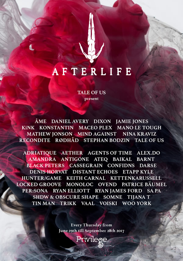 Cartel Afterlife Ibiza 2017